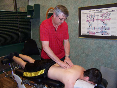 Chiropractic Adjustment, trail bc